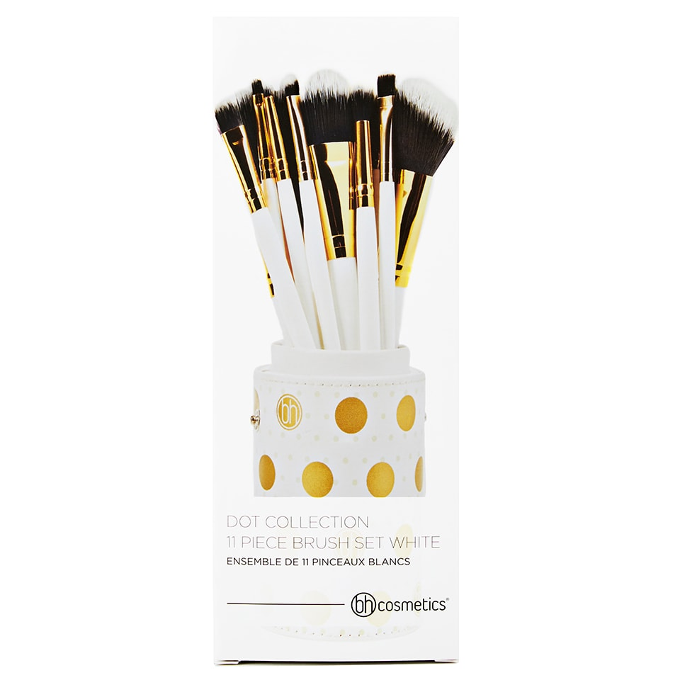 80047d496483f BH Cosmetics Dot Collection - 11 Piece Brush Set White