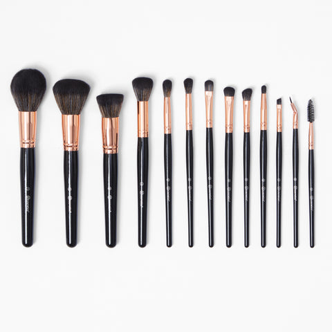 BH Signature Rose Gold 13 Piece Brush Set with Holder