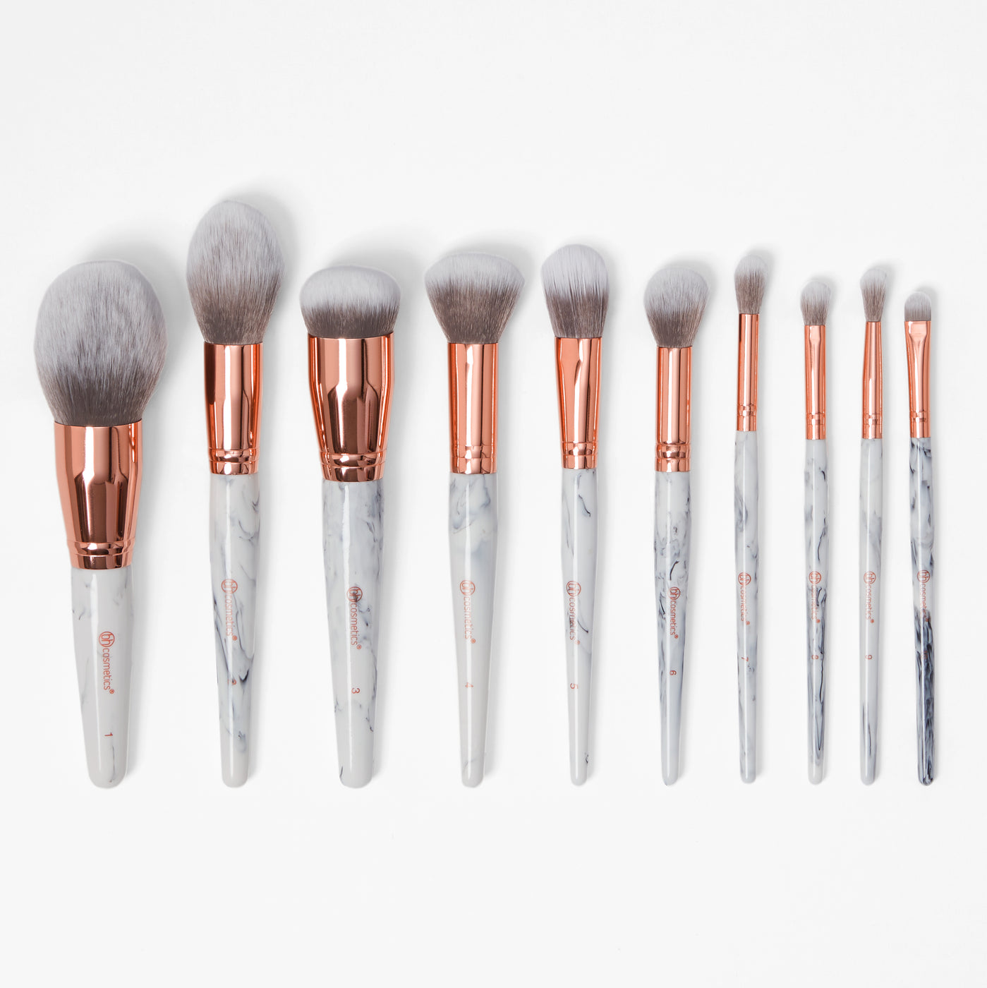 454bc137a3d5 Marble Luxe 10 Piece Brush Set   BH Cosmetics