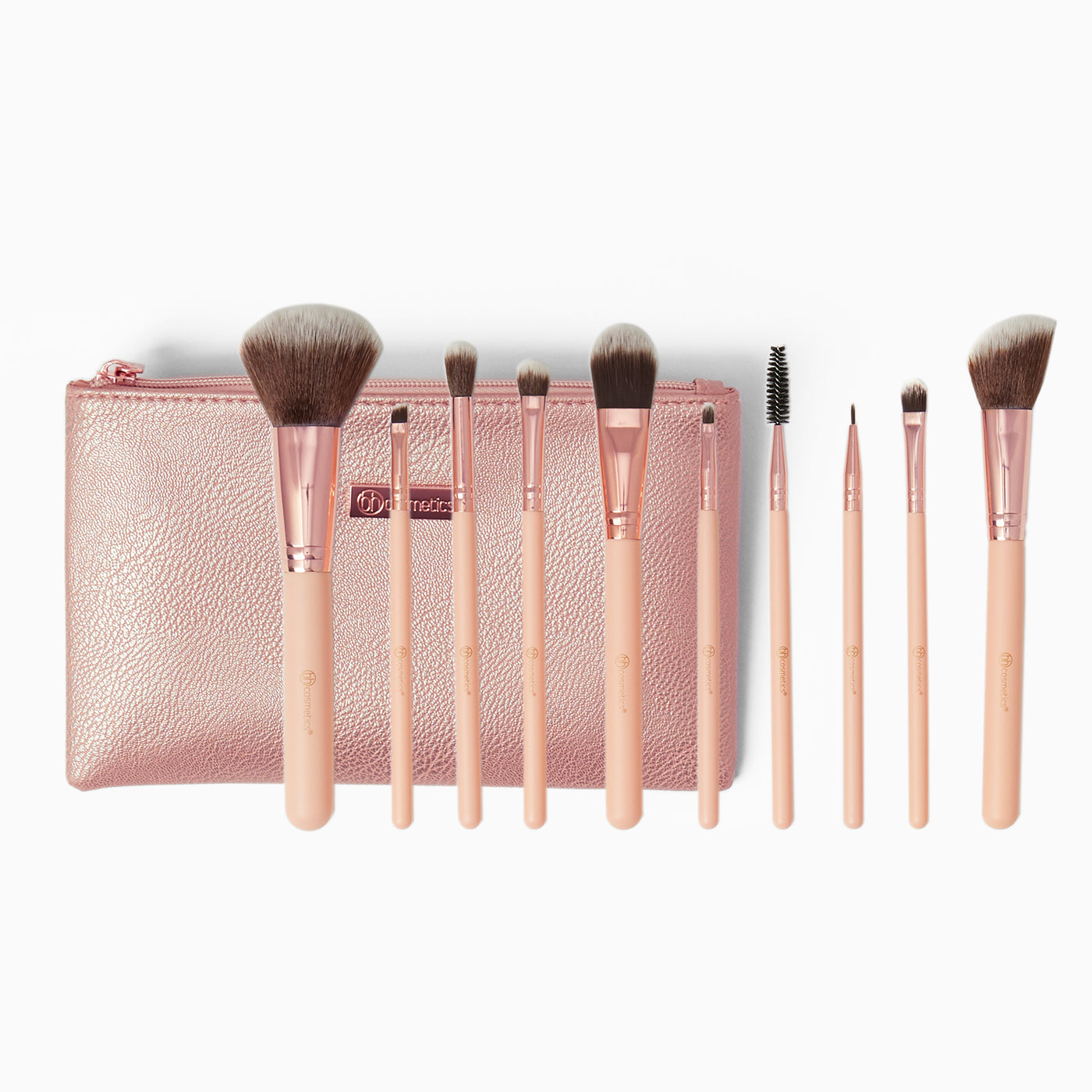 30e32cab28a4 BH Cosmetics Brush Set with Cosmetic Bag - Pretty in Pink - 10pc ...