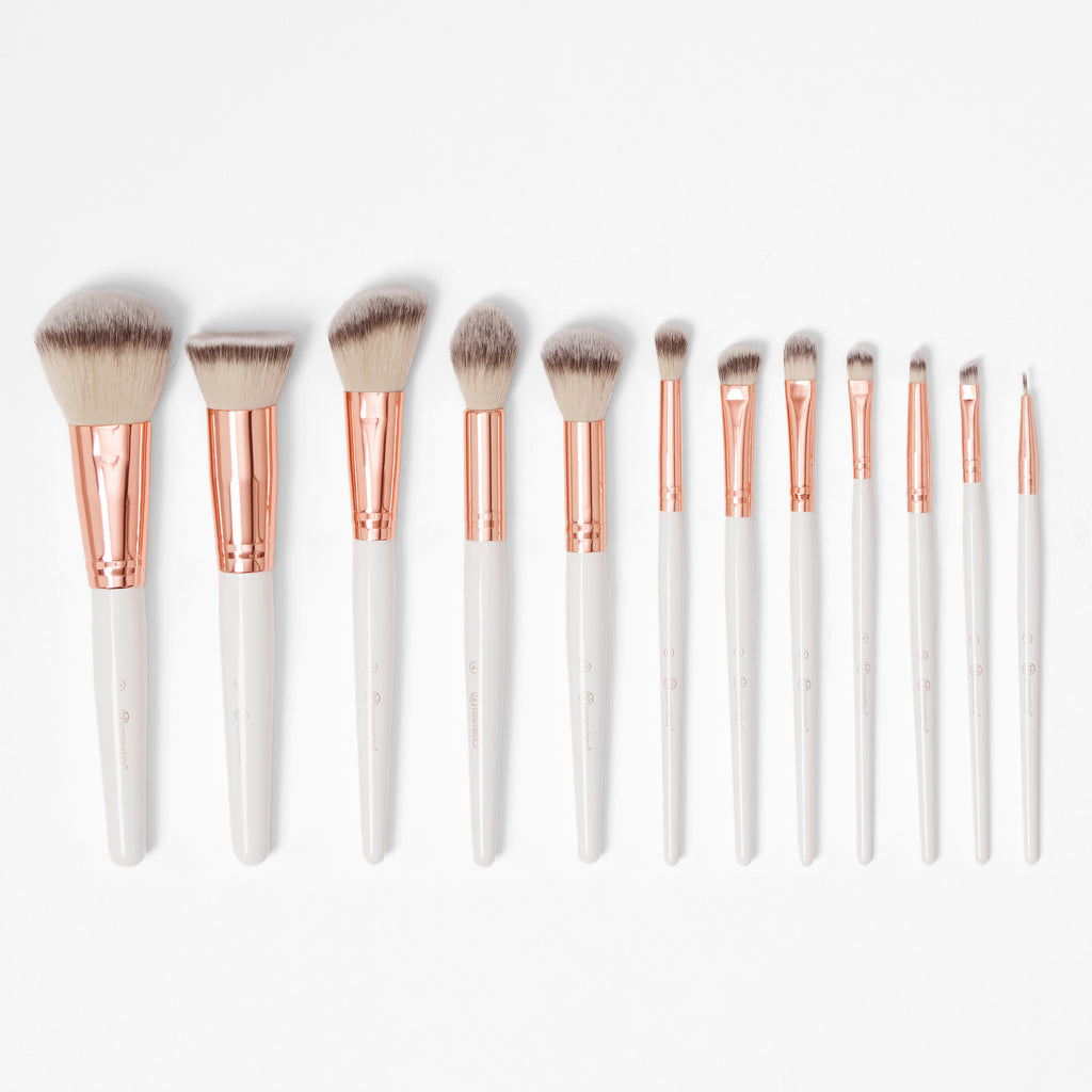 23956b37826f8 Rosé Romance – 12 Piece Brush Set With Cosmetic Bag