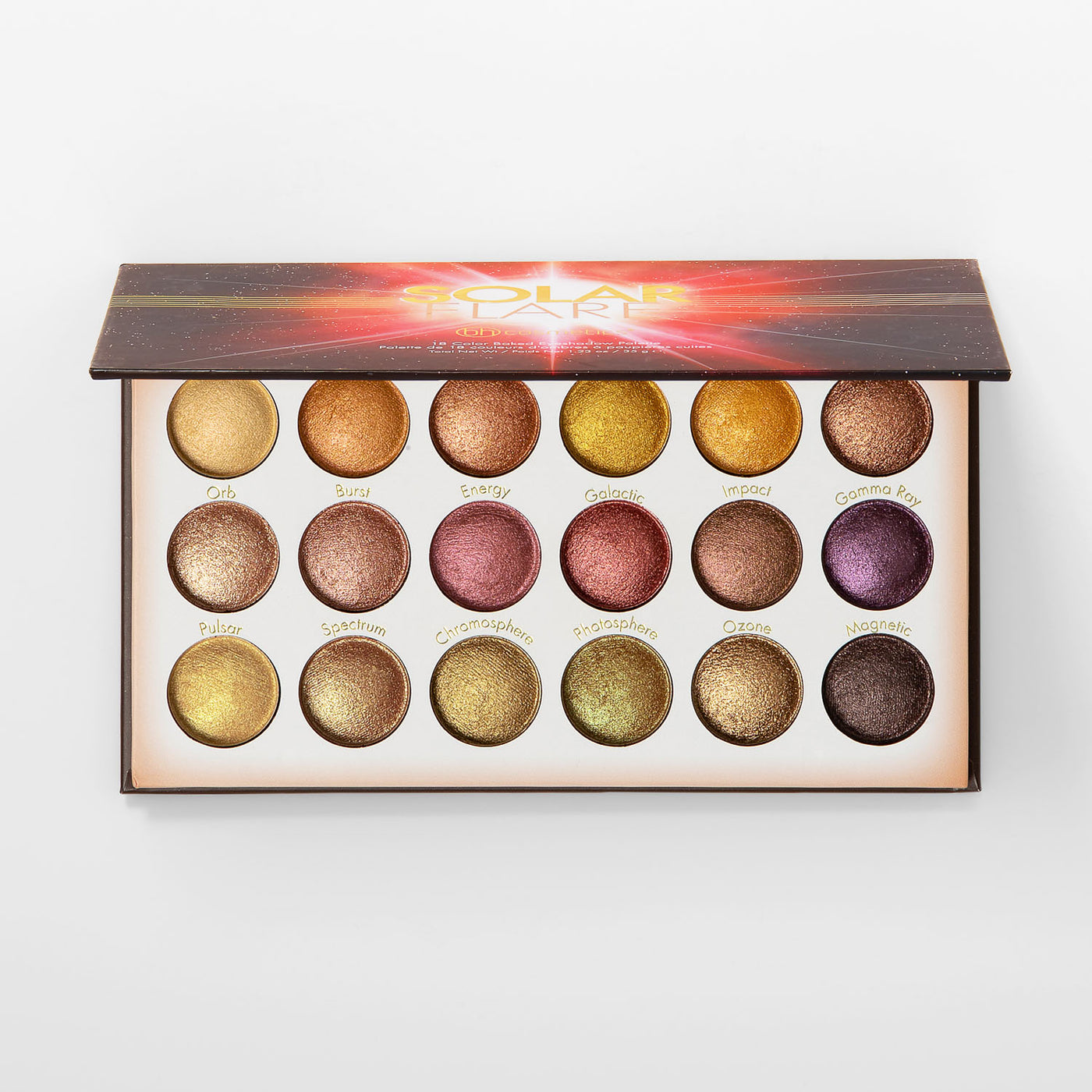 Solar Flare 18 Color Baked Eyeshadow Palette   BH Cosmetics