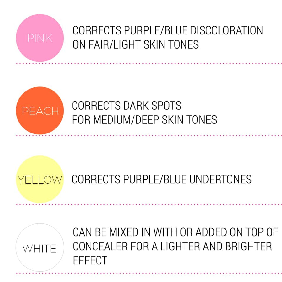 color:Pink - corrects purple/blue discoloration on fair/light skin tones