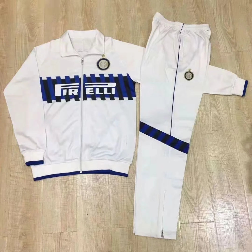 Inter Milan 2019-2020 Long Sleeve Tracksuit - White