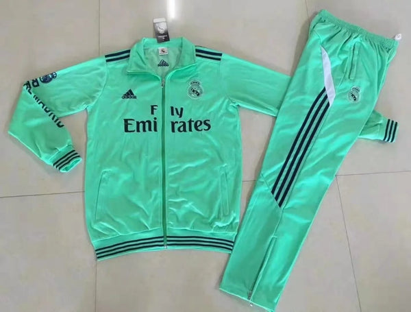 Real Madrid 2019-2020 Long Sleeve Tracksuit - Green
