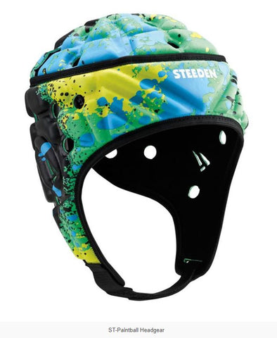 Steeden Super Lite Headgear- Paintball Lime/Yellow