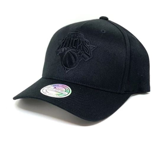 Mitchell & Ness All Black Logo 110 Snapback- Knicks - Little Rookie Sport (4356554588221)