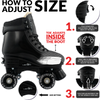 Jam Pop Adjustable Quad Skates- Black