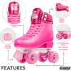 Glitter Pop Adjustable Quad Skates- Pink
