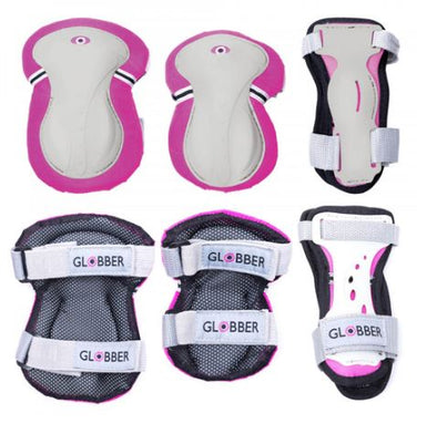 Globber Junior Protective Pad Set (XS) - Deep Pink - Little Rookie Sport (4283040006190)