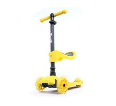 i-Glide Kids 3 Wheel Scooter Plus Seat - Yellow