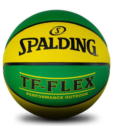 Spalding TF Flex Basketball- Green/Gold