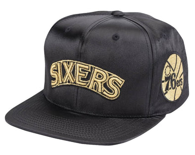 Mitchell & Ness Gold Toile Snapback- Philadelphia 76ers - Little Rookie Sport (4337039507517)