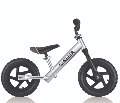 Globber Go Kids Balance Bike Alloy- BLACK