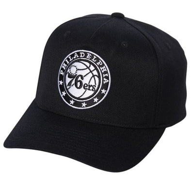 Mitchell & Ness Black & White Logo 110 Snapback- 76ers - Little Rookie Sport (4356555866173)