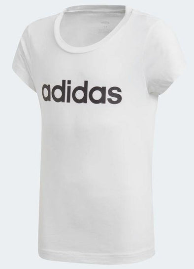 Adidas Girls Essential Linear Tee - Little Rookie Sport (4348229877821)