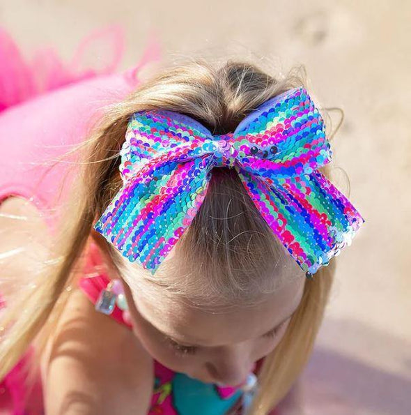 Madmia Kids Rainbow Sequin Hair Bow