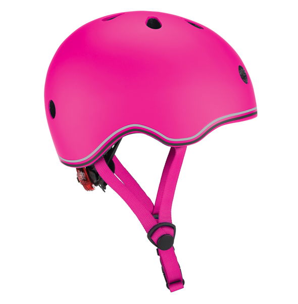 Globber Helmet Go Up Lights- DEEP PINK XS/S (51-55CM)