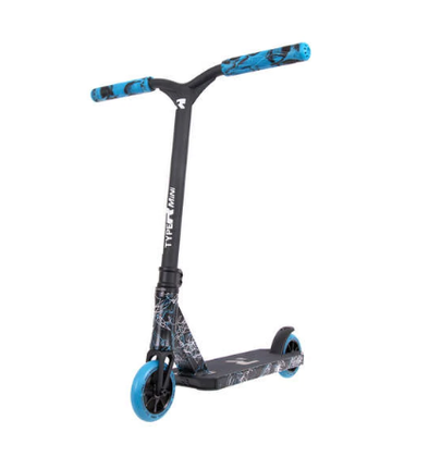 Root Industries Type R MINI Complete Scooter- Splatter Blue/White