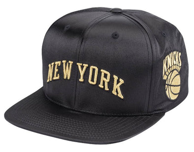 Mitchell & Ness Gold Toile Snapback- NY Knicks - Little Rookie Sport (4337039474749)