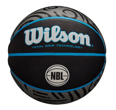 NBL Graffiti Basketball- Size 7 Black/Teal - Little Rookie Sport (4375124508733)