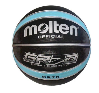 Molten GRX Series Basketball- Black/Sky Blue