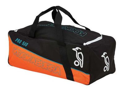 Kookaburra Pro 500 Cricket Kit Bag- Black/Orange - Little Rookie Sport (4355440902205)