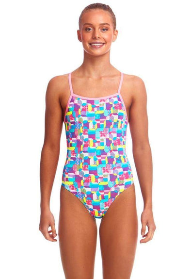 Funkita Girls Strapped In One Piece- Patched Up