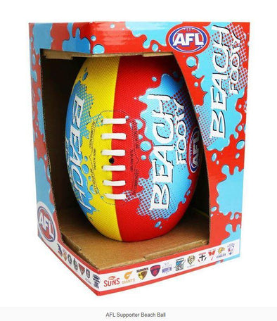 AFL Supporter Kids Beach AFL Ball - Little Rookie Sport (4298210771005)