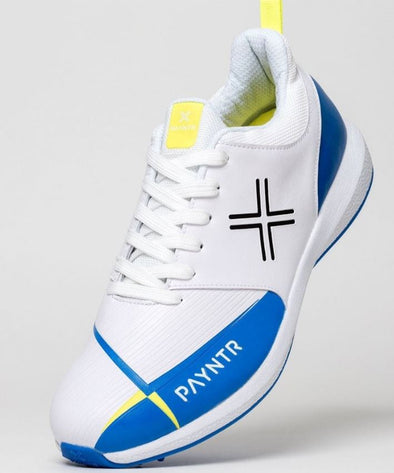 Payntr V Spike Cricket Shoe- Blue/ White