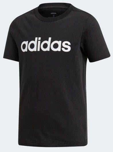 Adidas Boys Essential Linear Logo Tee- Black - Little Rookie Sport (4348229812285)