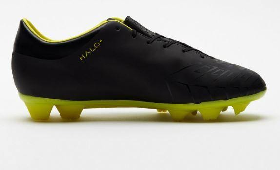 Concave Halo + Kids Football Boots FG Black/Neon Yellow