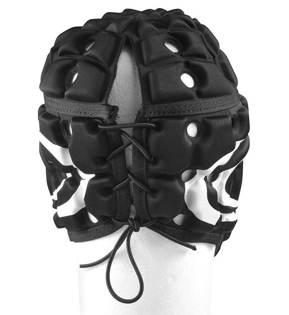 Madison Air Flow Headguard- Black with White Stripes