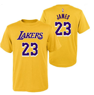 Outerstuff NBA LA Lakers James Flat TEE- Youth - Little Rookie Sport (1892623351854)