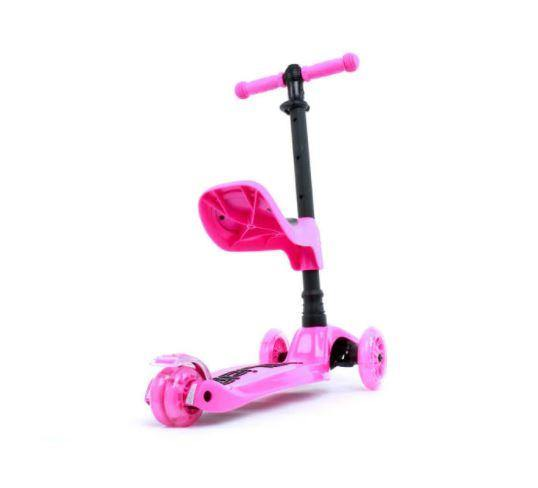 i-Glide Kids 3 Wheel Scooter Plus Seat - Pink