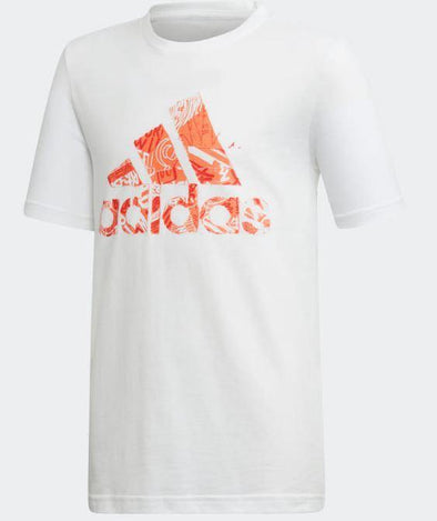 Adidas Youth BOS Tee White - Little Rookie Sport (1883907883054)