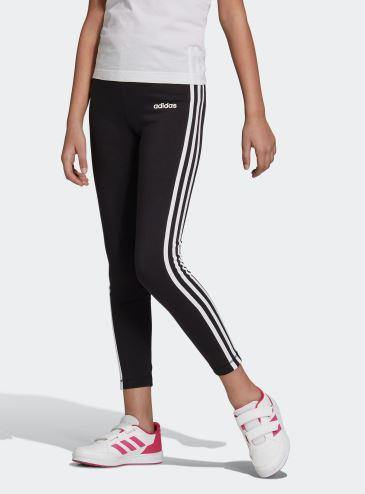 Adidas Youth 3/4 Black and White Tights - Little Rookie Sport (1883901984814)
