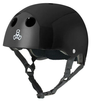 Triple 8 Skate Helmet SS - Black Gloss