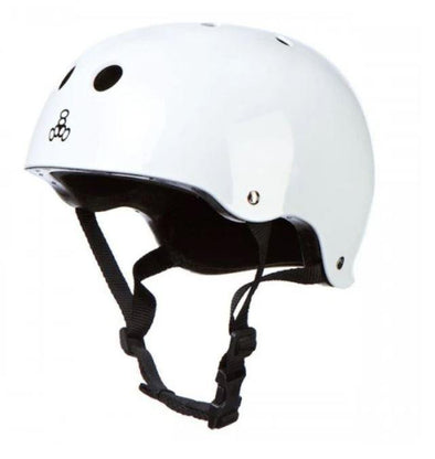 Triple 8 Skate Helmet SS - White Gloss