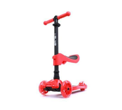i-Glide Kids 3 Wheel Scooter Plus Seat - Red