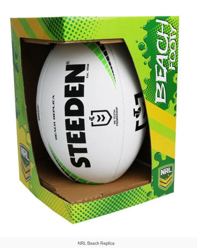 NRL Replica Beach Footy Ball- White - Little Rookie Sport (4298215391293)