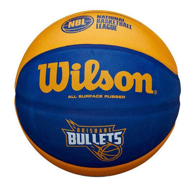 Wilson NBL Brisbane Bullets Basketball - Little Rookie Sport (4375971954749)