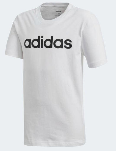 Adidas Boys Essential Linear Logo Tee- White - Little Rookie Sport (4348229845053)