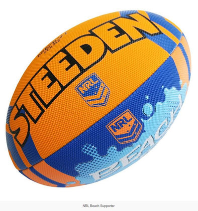NRL Replica Beach Footy Ball- Orange/Blue - Little Rookie Sport (4298215358525)