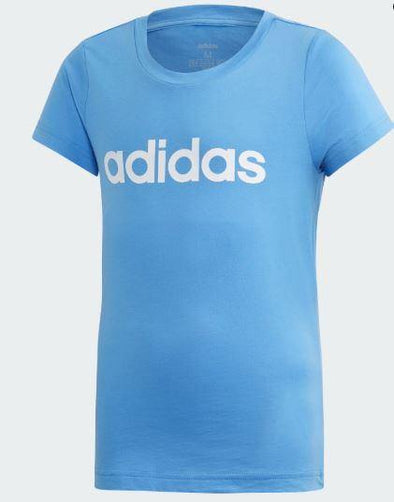 Adidas Young Girls Essential Linear Tee - Little Rookie Sport (4337086267453)