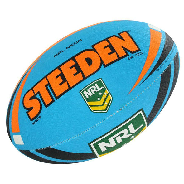 Steeden NRL Neon- Blue/Orange - Little Rookie Sport (1914685947950)