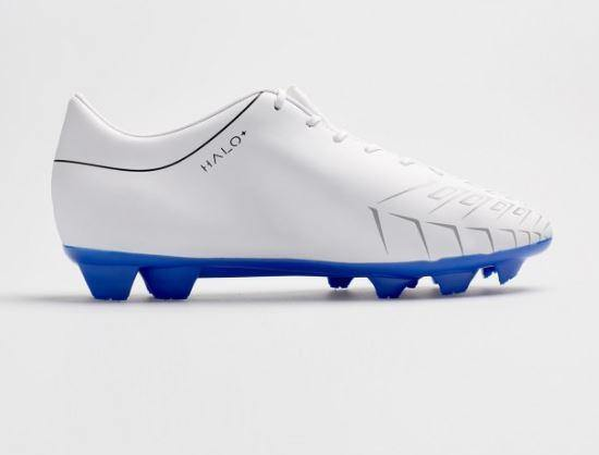 Concave Halo + Kids Football Boots FG White/Blue - Little Rookie Sport (1897353674798)