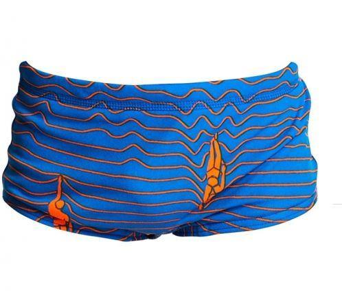 Funky Trunks Toddler Boys Printed Trunks- Ocean Swim