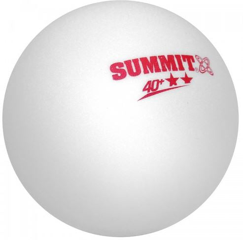Summit 2 star table tennis balls 6pack white