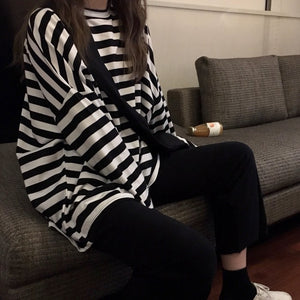 Casual Basic Stripy Shirt H3789